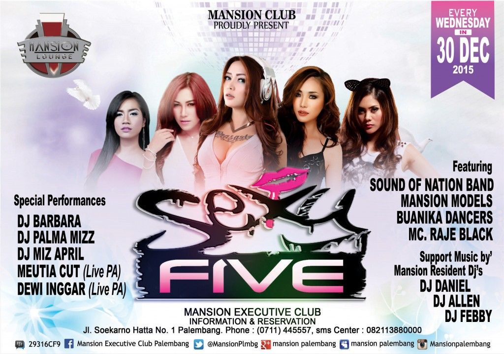 MANSION EXECUTIVE CLUB EVENT SEXY FIVE